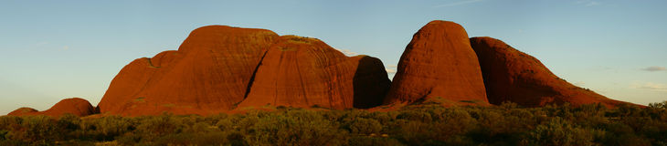 Kata Tjuta panorama2 Royalty Free Stock Images