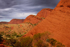 Kata Tjuta (the Olgas) On A Rainy Day Royalty Free Stock Images