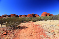 KATA TJUTA. Typical landscape and rock in central Australia Royalty Free Stock Image
