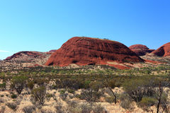 KATA TJUTA. Typical landscape and rock in central Australia Royalty Free Stock Photo