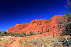 KATA TJUTA. Typical landscape and rock in central Australia Stock Photo