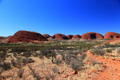 KATA TJUTA. Typical landscape and rock in central Australia Royalty Free Stock Images