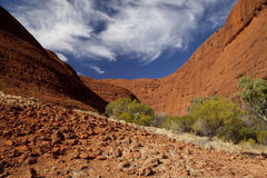 KATA TJUTA. Typical landscape and rock in central Australia Stock Images