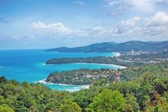 Kata Viewpoint na ilha de Phuket, Tailândia - Kata imagem de stock