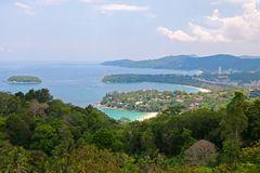 Kata Viewpoint on Phuket Island Royalty Free Stock Photos
