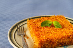 Kataif cake on a plate Stock Photography