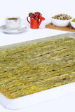 Kataifi - Traditional Turkish Dessert. Kanafeh Arabic, kadayıf Turkish, kadaif Albanian, kataifi, kadaifi Greek, is a very fine vermicelli-like pastry used to Royalty Free Stock Photography