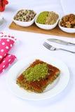 Kataifi - Traditional Turkish Dessert. Kanafeh Arabic, kadayıf Turkish, kadaif Albanian, kataifi, kadaifi Greek, is a very fine vermicelli-like pastry used to Royalty Free Stock Photos