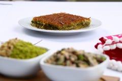 Kataifi - Traditional Turkish Dessert. Kanafeh Arabic, kadayıf Turkish, kadaif Albanian, kataifi, kadaifi Greek, is a very fine vermicelli-like pastry used to Stock Photos