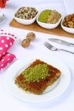 Kataifi - Traditional Turkish Dessert. Kanafeh Arabic, kadayıf Turkish, kadaif Albanian, kataifi, kadaifi Greek, is a very fine vermicelli-like pastry used to Royalty Free Stock Images