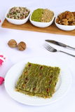 Kataifi - Traditional Turkish Dessert. Kanafeh Arabic, kadayıf Turkish, kadaif Albanian, kataifi, kadaifi Greek, is a very fine vermicelli-like pastry used to Royalty Free Stock Image