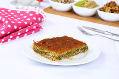 Kataifi - Traditional Turkish Dessert Stock Image