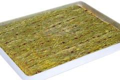 Kataifi - Traditional Turkish Dessert. Kanafeh Arabic, kadayıf Turkish, kadaif Albanian, kataifi, kadaifi Greek, is a very fine vermicelli-like pastry used to Stock Image