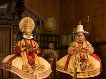 Katakali展示在印度 免版税库存照片