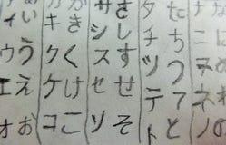 Katakana. Hiragana. Japanese alphabet royalty free stock photo
