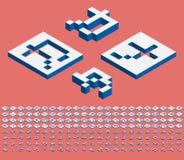 Katakanas isométriques en haut Photos libres de droits
