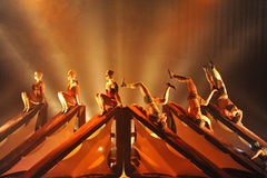 Kataklò acrobatic dance company at the theater Royalty Free Stock Photos