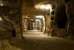 Katakomben des Heiligen Giovanni stockbild
