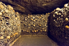 Katakomberna av Paris Arkivbild