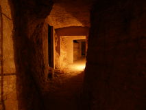 katakumby jaskini. Zdjęcie Stock