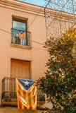 Katalanische independentist Balkone lizenzfreie stockfotografie