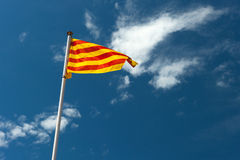 Katalanische Markierungsfahne stockbild
