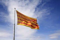 Katalanische Markierungsfahne Lizenzfreies Stockfoto