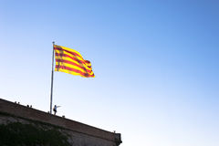 Katalanische Markierungsfahne Barcelona Lizenzfreies Stockbild