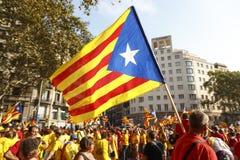 Katalanischer Nationaltag 2014 Lizenzfreie Stockfotografie