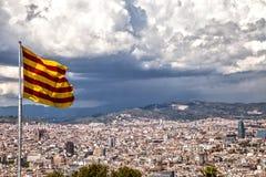 Katalończyk flaga Zdjęcia Stock
