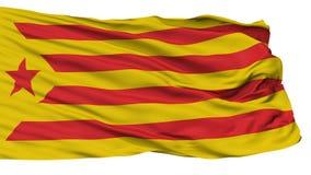 Katalońska nacjonalizm flaga, Odosobniona Na bielu royalty ilustracja