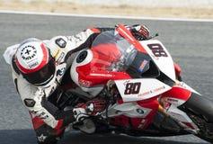 KATALOŃSKI mistrzostwo MOTORCYCLING - ASIER GOMEZ Fotografia Stock