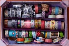 Katalog för samling för Washi bandfall Royaltyfri Fotografi