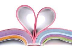 Katalog gefaltetes Herz lizenzfreie stockbilder