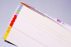 Katalog mit farbigen Seiten Stockbilder