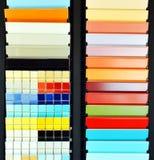 Katalog mit Ziegeln gedeckt, Proben im Speicher Lizenzfreies Stockfoto