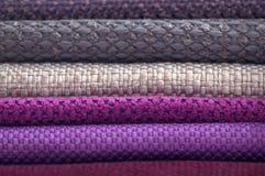 Katalog stubarwny płótno od matować tkaniny tekstury tło, jedwabniczej tkaniny tekstura, przemysłu włókienniczego tło Zdjęcie Stock