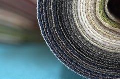 Katalog stubarwny płótno od matować tkaniny tekstury tło, jedwabniczej tkaniny tekstura, przemysłu włókienniczego tło Zdjęcia Royalty Free