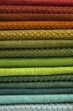Katalog stubarwny płótno od matować tkaniny tekstury tło, jedwabniczej tkaniny tekstura, przemysłu włókienniczego tło Obrazy Stock