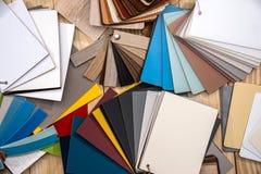 Katalog von lamellierenden Proben lizenzfreies stockfoto
