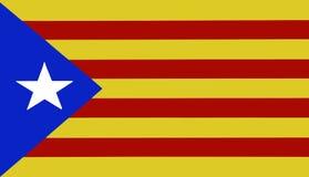 Katalonien-Flagge Lizenzfreie Stockfotos