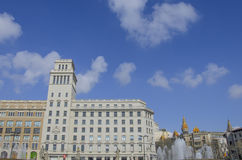 Katalonien-Quadrat lizenzfreies stockbild