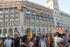 Katalonien-Unabhängigkeitstag Lizenzfreies Stockfoto