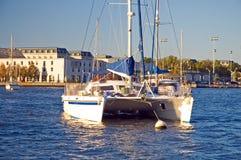 Katamaran in Annapolis Stockfoto