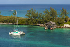 Katamaran i Bahamas Royaltyfri Fotografi