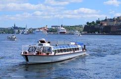 KATAMARAN I STOCKHOLM Royaltyfria Foton