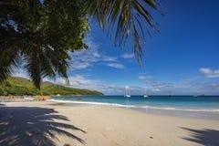 Katamaran på anse lazio på Seychellernaen 17 Royaltyfri Foto
