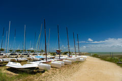 Katamarans on iIsland Oleron in France Royalty Free Stock Photos