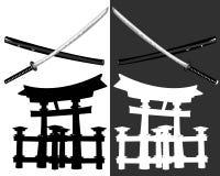 Katana de Itsukusima Imagen de archivo libre de regalías