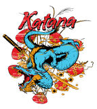 Katana Dragon Lizenzfreies Stockbild